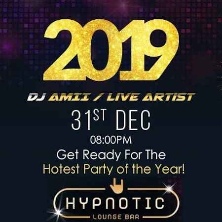new year party at hypnotic lounge bar