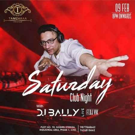 saturday club night tamzaraa chandigarh 9 feb 2019