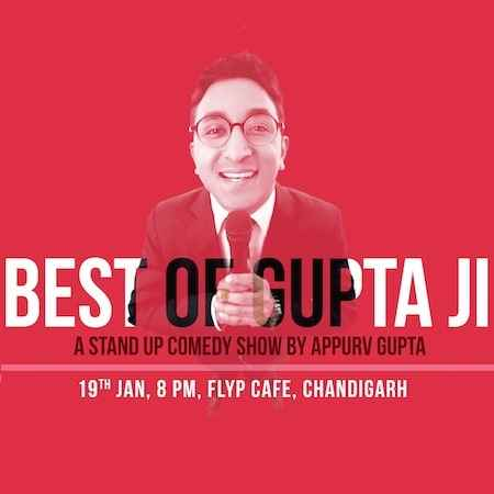 stand up comedy appurv gupta flyp chandigarh jan 2019