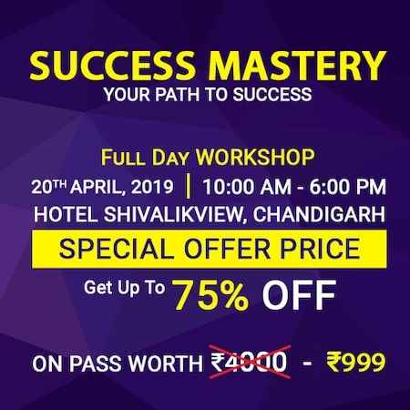 success mastery workshop amandeep thind chandigarh 2019