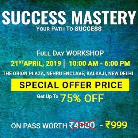success mastery workshop amandeep thind delhi 2019