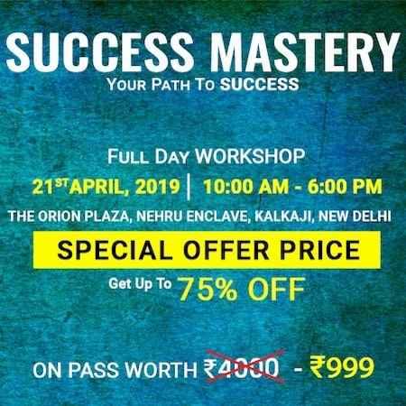 success mastery workshop amandeep thind delhi 2019