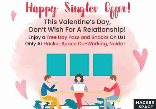 valentines celebration hacker space coworking noida